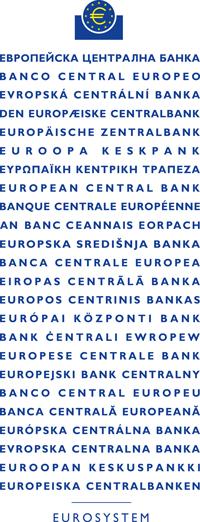 Logo EBC i jego nazwy w traktatowych językach Unii Europejskiej