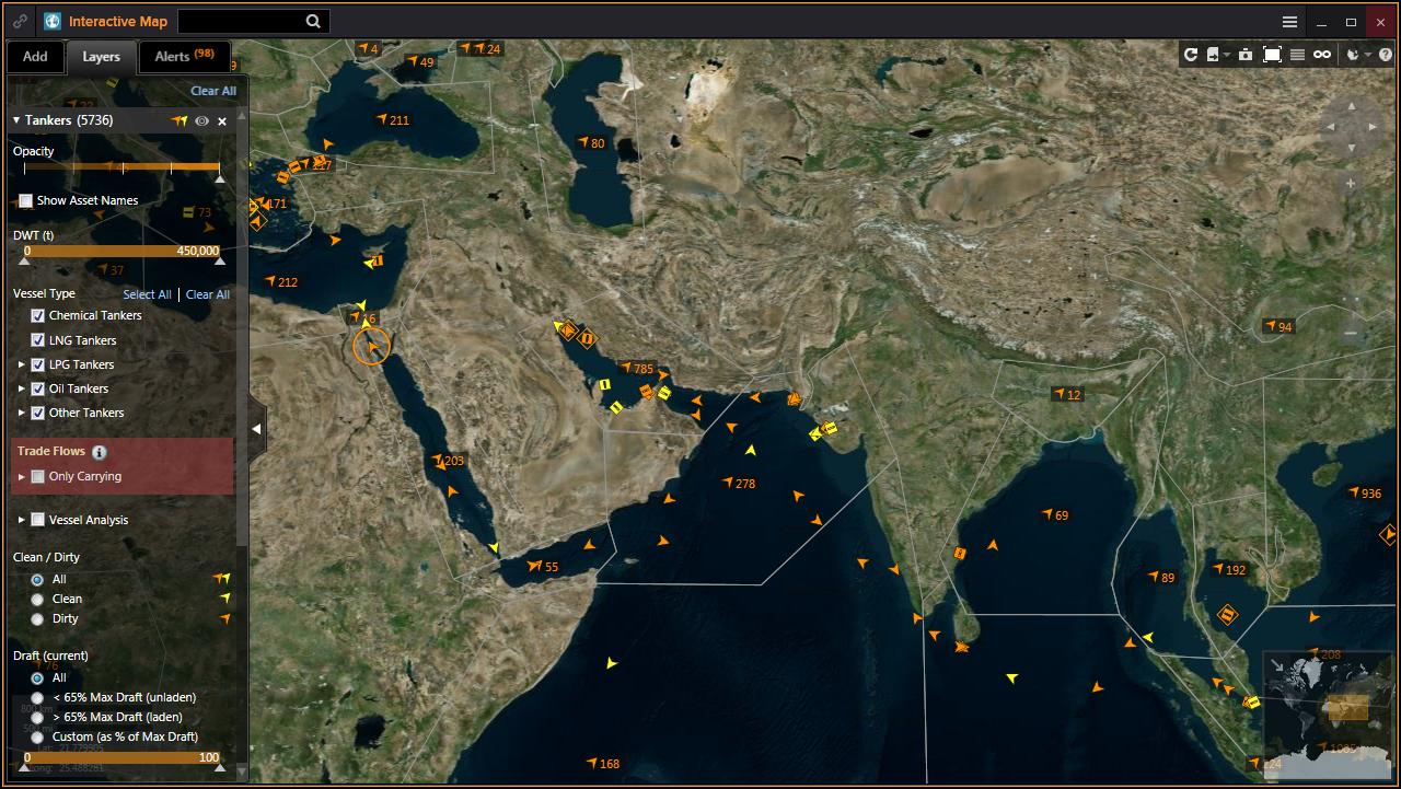 Mapa tankowców - Eikon