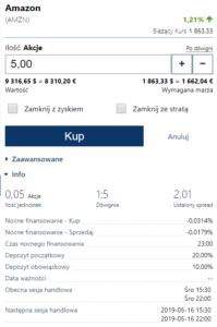 Amazon CFD w Plus500