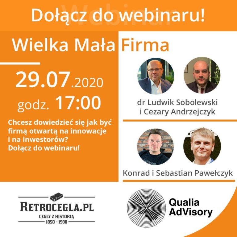Webinar z Ludwikiem Sobolewskim – już w środę o 17:00