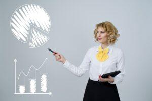 Kobieta zarządzająca swoim kapitałem inwestycyjnym