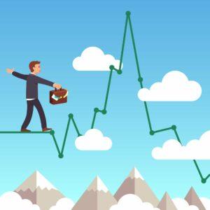 Grafika prezentująca zarządzanie ryzykiem w tradingu
