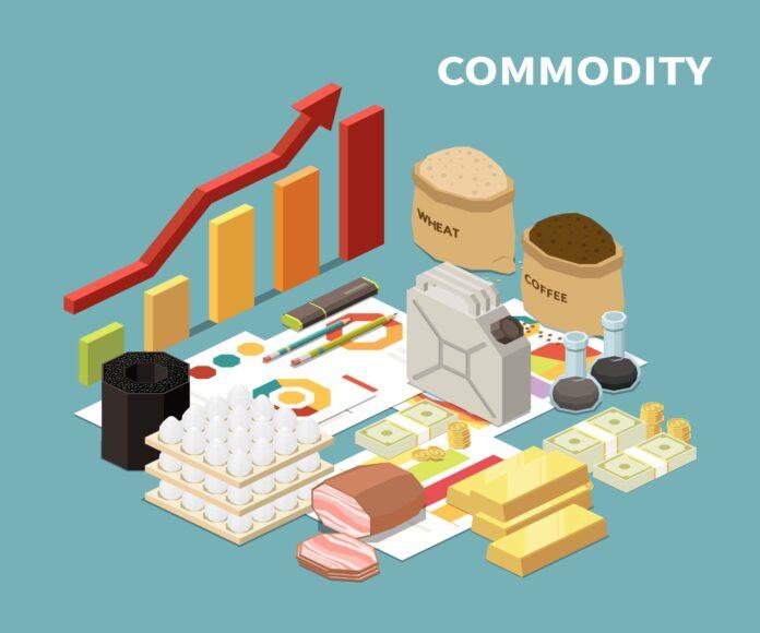 Grafika prezentująca towary, którymi handluje się na rynku surowcowym