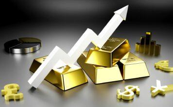 Grafika przedstawiająca wzrost cen złota
