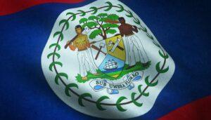 Zbliżenie na flagę Belize