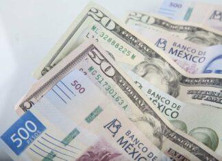 Dolar amerykański i peso meksykańskie - banknoty